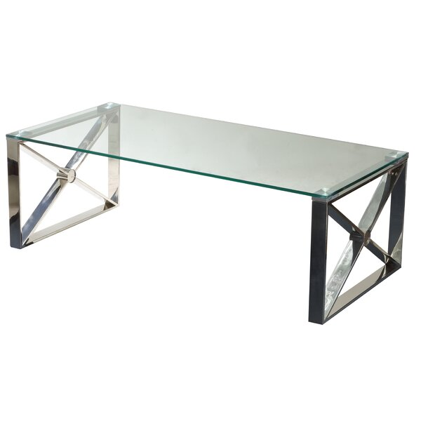 Westnedge Glass Coffee Table by Ebern Designs