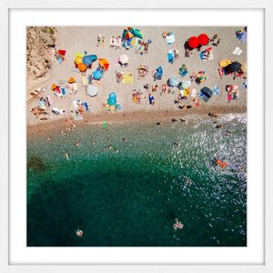 'Packed Beach' Framed Print by Marmont Hill
