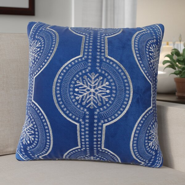 Elem Embroidery Velvet Throw Pillow by The Holiday Aisle
