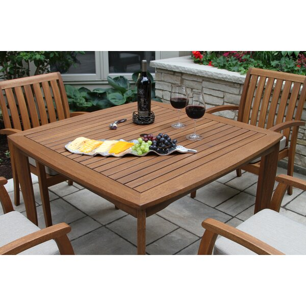 Moana Solid Wood Dining Table by Beachcrest Home
