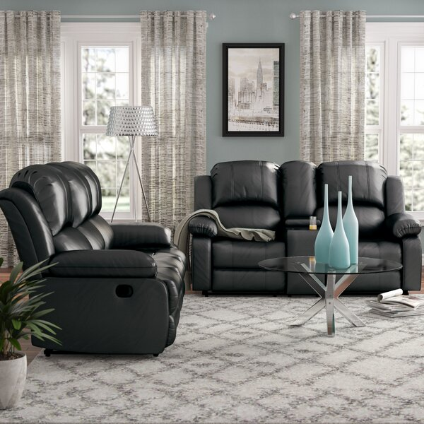 Mayday Reclining 2 Piece Faux Leather Living Room