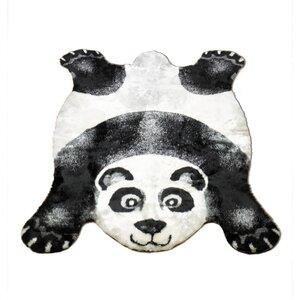 Panda Black Outdoor Area Rug