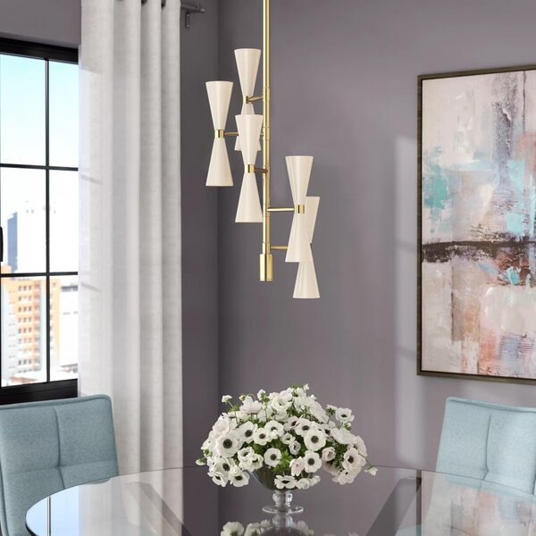 Faith 10-Light Sputnik Chandelier by Langley Street