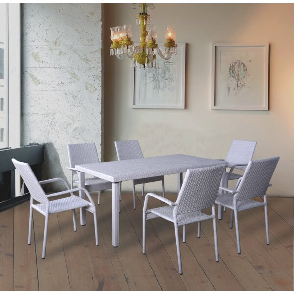 Frew 7 Piece Dining Set by Highland Dunes