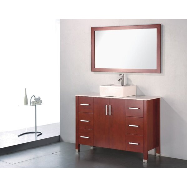Adrian 48 Single Bathroom Vanity Set with Mirror by Adornus