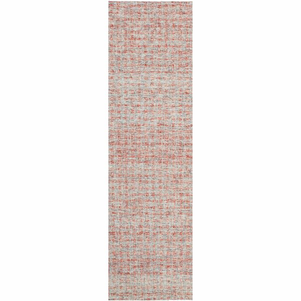 Tattersall Hand-Tufted Wool Red Area Rug