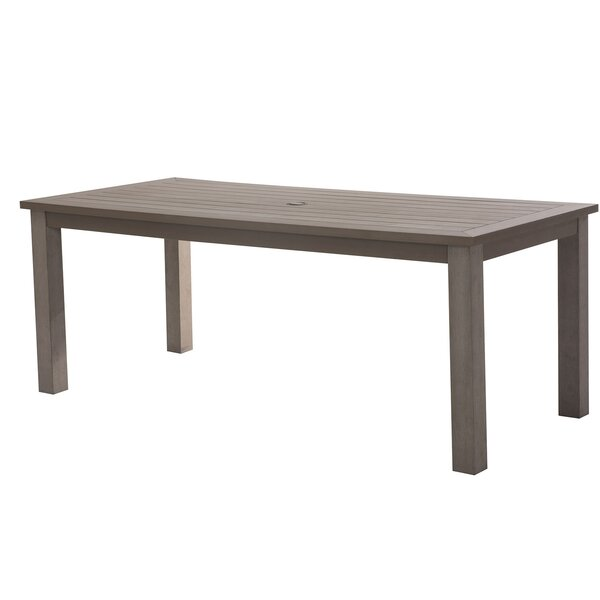 Itzhak Aluminum Dining Table by Ivy Bronx
