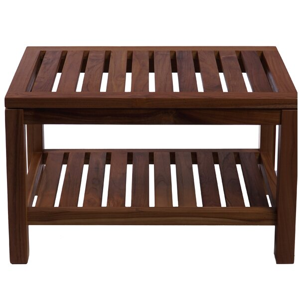 Rowlett Teak Picnic Bench by Millwood Pines