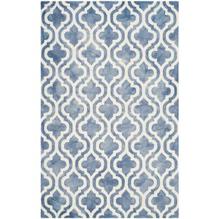 Handmade Blue/Ivory Area Rug by House of Hampton