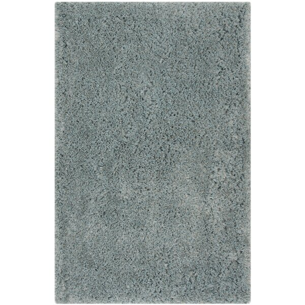 Loyola Shag Hand-Tufted Blue Area Rug by Ivy Bronx