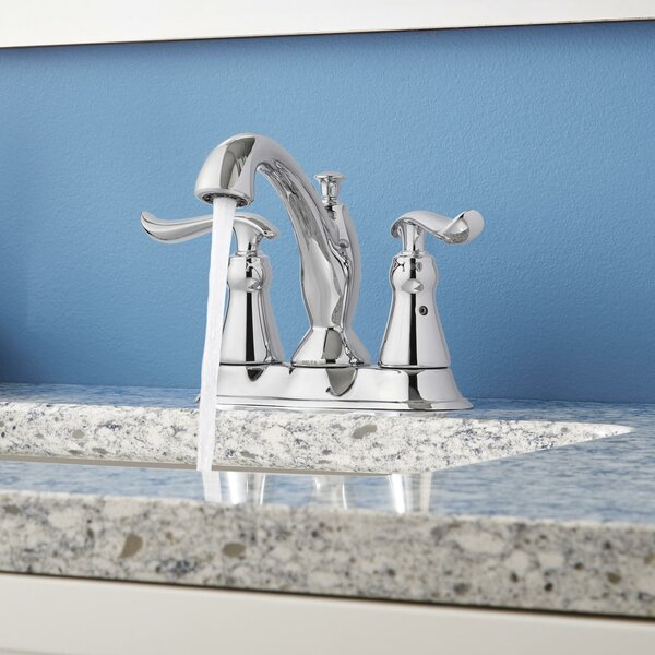 Linden Centerset Bathroom Faucet with Drain Assembly and Diamond Seal Technology by Delta Delta
