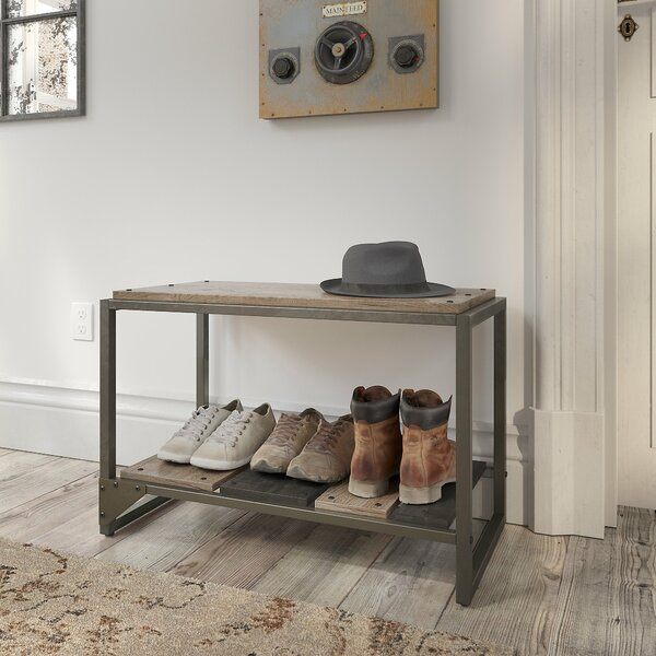 Edgerton 3 Pair Shoe Storage Bench by Greyleigh