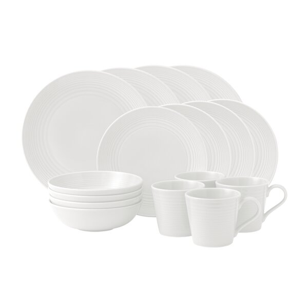 Maze 16 Piece Dinnerware Set, Service for 4 by Gordon Ramsay by Royal Doulton