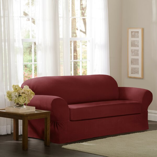 Separate Seat Box Cushion Loveseat Slipcover By Red Barrel Studio