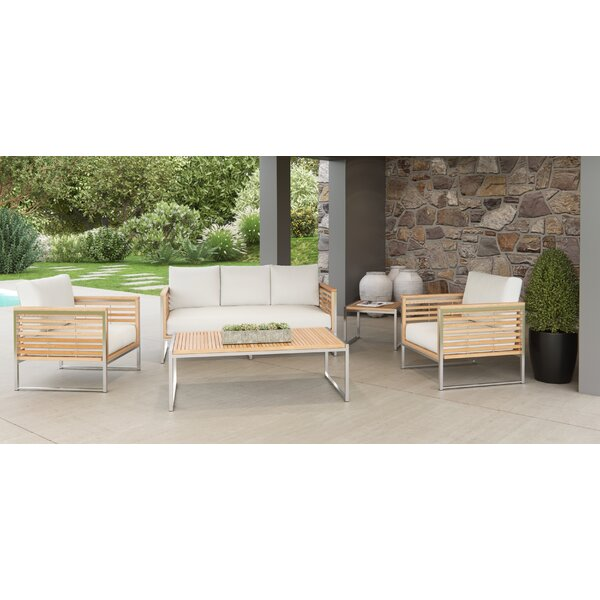 Markowitz 5 Piece Teak Sofa Set with Cushions by Brayden Studio