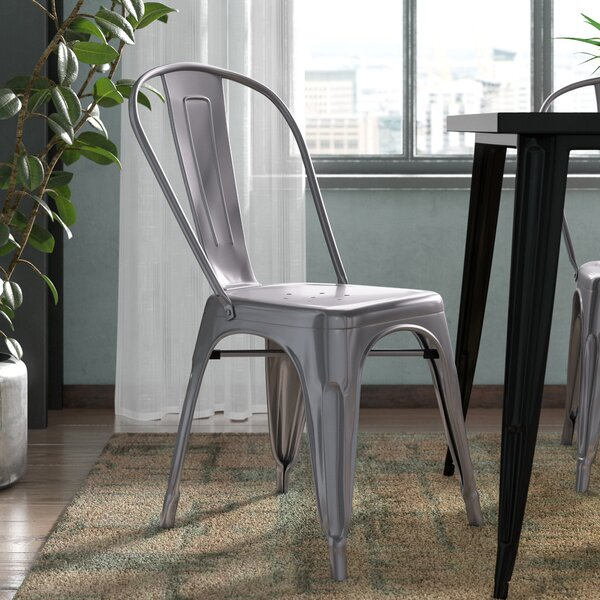 Roberto Clear Coated Dining Chair by Williston Forge