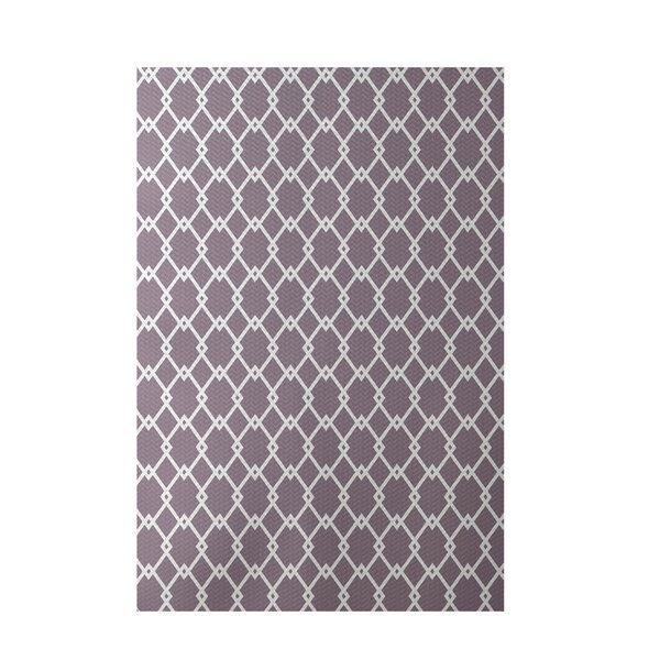 Geometric Purple Indoor/Outdoor Area Rug by e by design
