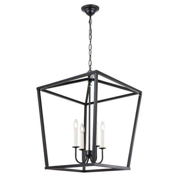 Tanguay 4 - Light Lantern Square Chandelier by Gracie Oaks Gracie Oaks
