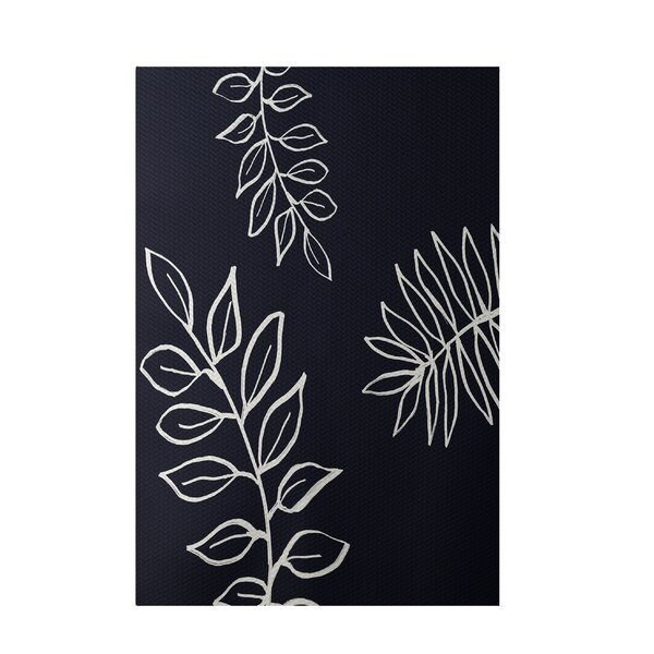Floral Navy Indoor/Outdoor Area Rug by e by design