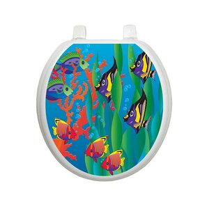 toilet seat 17 x 14. Youth Under The Sea Toilet Seat Decal Decals You ll Love  Wayfair