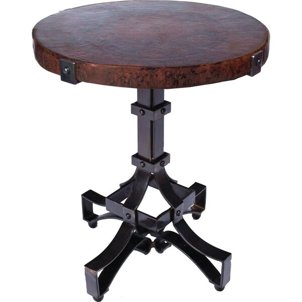 Meghan Iron Rivet Strap End Table by 17 Stories