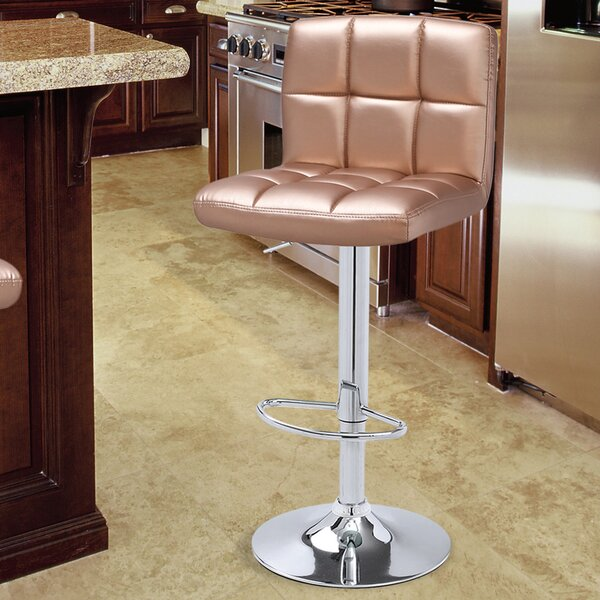 Hansley Adjustable Height Swivel Bar Stool (Set of 2) by Ebern Designs