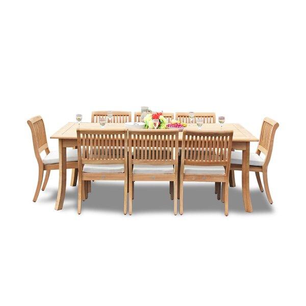 Masten 9 Piece Teak Dining Set by Rosecliff Heights