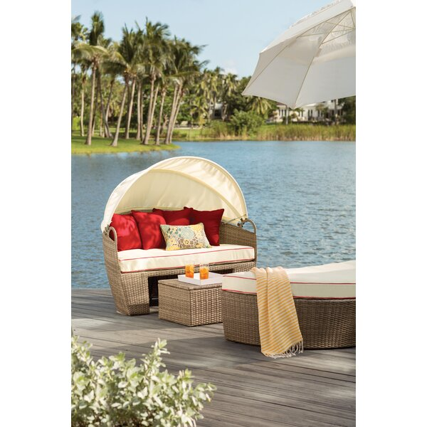Garden Grove 3 Piece Daybed Set with Cushions by Beachcrest Home