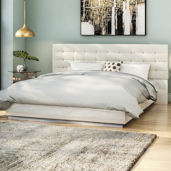 Matt Upholstered Platform Bed by Wade Logan