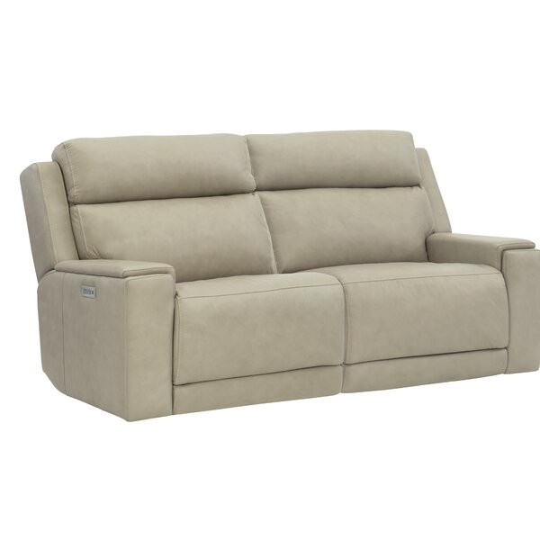 Review Emerson Leather Reclining Loveseat
