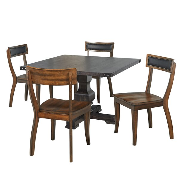 Kaiser 5 Piece Solid Wood Dining Set by Gracie Oaks