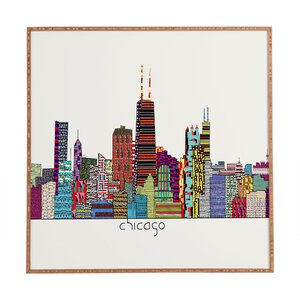 'Chicago City' Framed Graphic Art by East Urban Home