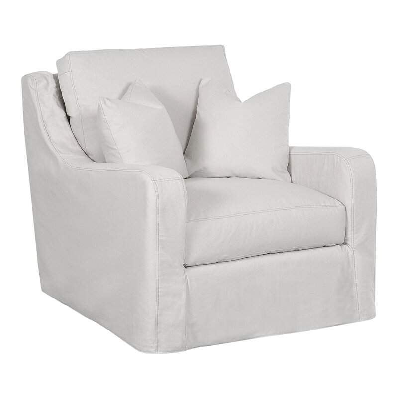 Maggie Armchair #slipcovered #armchair #white