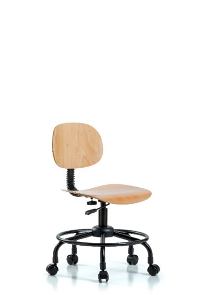 Round Tube Base Desk Height Office Chair by Blue Ridge Ergonomics