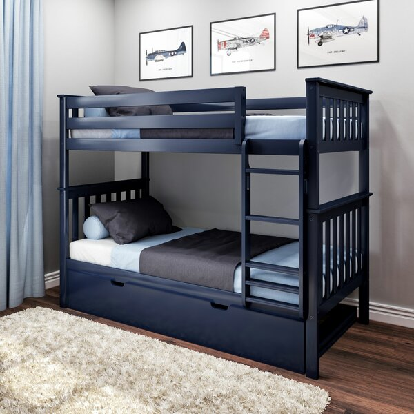 Walters Twin over Twin Bunk Bed with Trundle by Harriet Bee