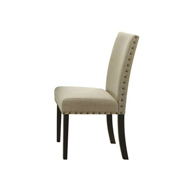 Basile Nailhead Trim Upholstered Dining Chair (Set of 2) by Charlton Home
