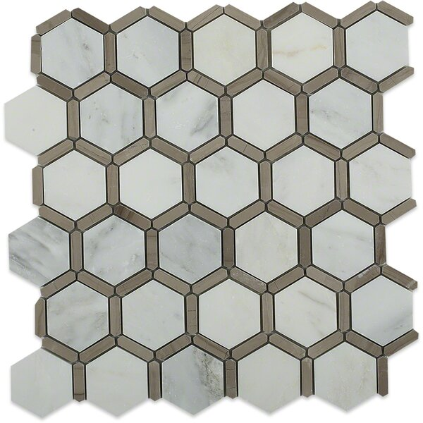 Ambrosia 2 x 2 Marble Mosaic Tile in Gray by Splashback Tile