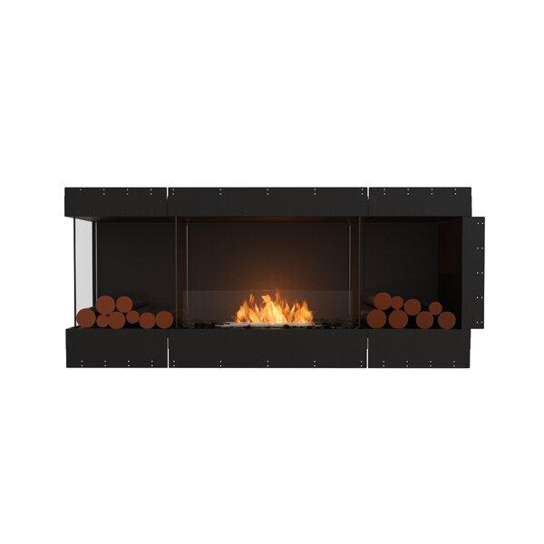 Flex Left Corner Recessed Wall Mounted Bio-Ethanol Fireplace by EcoSmart Fire