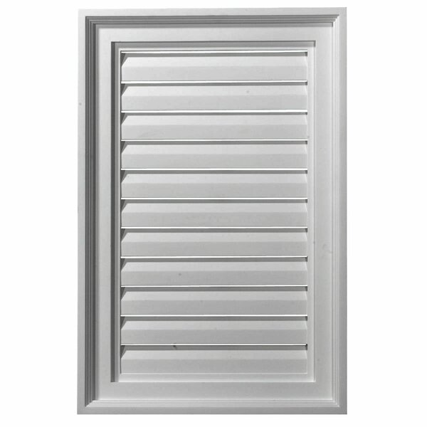 12H x 16W Vertical Gable Vent Louver by Ekena Millwork