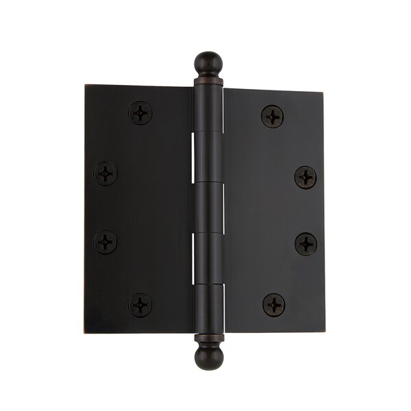 4.5 Ball Tip Heavy Duty Hinge with Square Corners by Grandeur