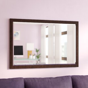 Compare prices Larabee Wood Frame Beveled Edged Wall Mirror By Latitude Run