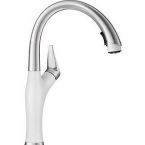 White Kitchen Faucets Pull Down white kitchen faucets you'll love | wayfair