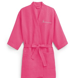 Personalized Embroidered Waffle Spa Bathrobe 2d4c91599