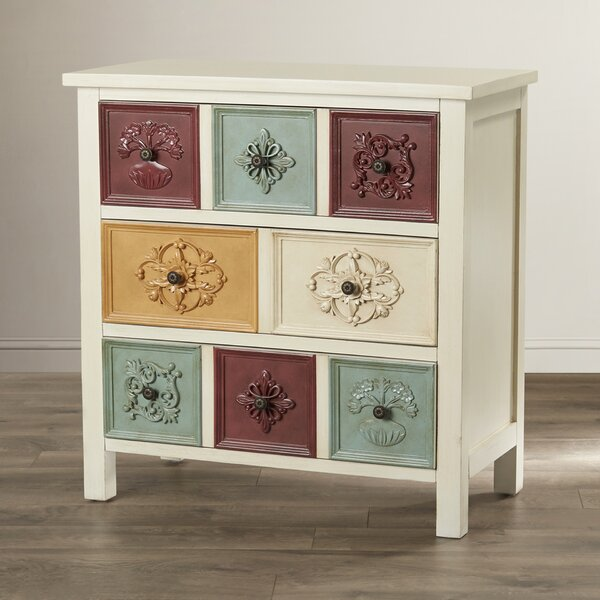 Hansali Contemporary 3 Drawer Chest by Bungalow Rose