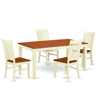 Pillar 5 Piece Extendable Breakfast Nook Dining Set By August Grove