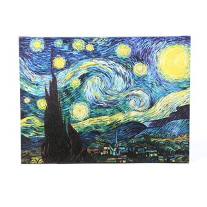 Starry Night by Vincent Van Gogh Framed Graphic Art Print on Canvas by Alcott Hill