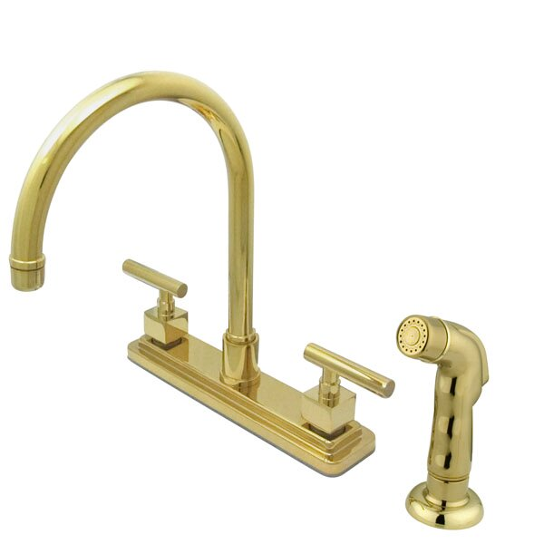 Rio Double Handle Kitchen Faucet with Side Spray by Elements of Design