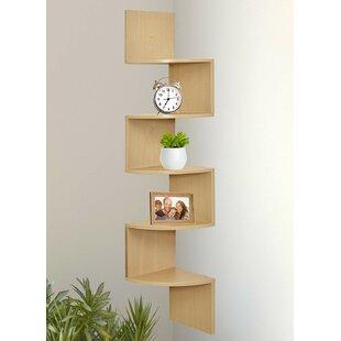 Jarrod 5 Tier Corner Wall Shelf