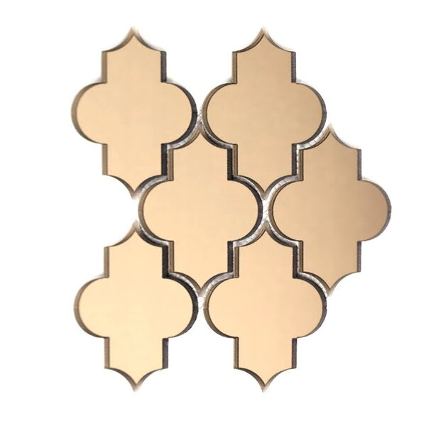 Echo Small Lantern 4 x 5.5 Glass Mosaic Tile in Gold by Abolos