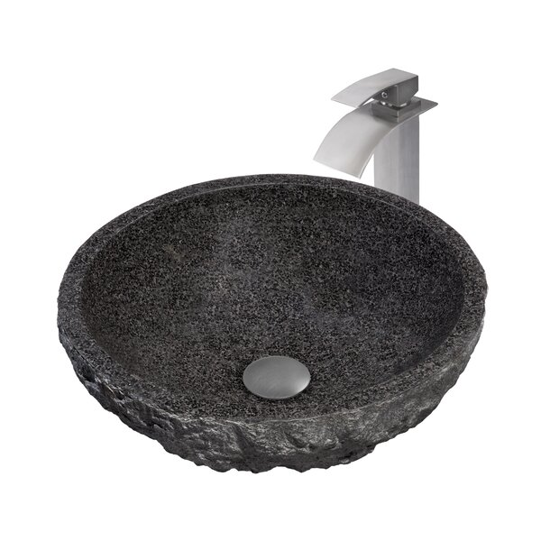 Absolute Metal Circular Vessel Bathroom Sink with Faucet by Novatto